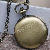 Elegant Mechanical Black Dial Mens Pocket Watch FOB New H108
