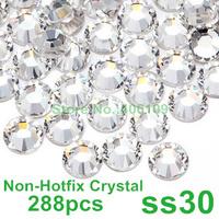 SS30 6.5mm Crystal Clear Color 288pcs Flat Back stones (Non Hotfix) Art Nail Rhinestones 30ss Non Hot Fix Rhinestones