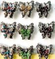 Free Ship Wholesale 50PCS Age-old bronze Rhinestone butterfly adjustable  Ring Wedding/Bridal Fashion Jewelry