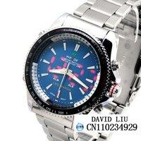 Luxury Analog LED Digital Date Steel Sport Men Watch WL0004