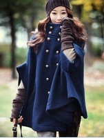 Wholesale - Hot selling free shipping Women's cotton winter /Autumn noble long coats hot manifold color