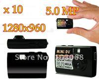 10pcs/lot Brand New 5.0MP DVR Camera Motion Detection 1280*960 HD Mini DV,Mini Digital Camera Free Shipping