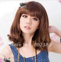 free shipping body wave guaranteed free style no tangle,no shedding,last long lady's Fashion Wig