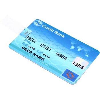 8GB Blue Credit Card Shaped USB Flash Drive(Usb 2.0)  Free shipping