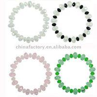 fashion jewerly stretch single crystal line bangle bracelet