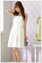 free shipping FY1191 gorgeous lanterns swing charm dresses for prom (white)(China (Mainland))