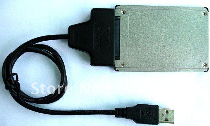MICRO SATA( 7+7+2PIN) to USB adaptor,microsata adapter top-saus005(China (Mainland))