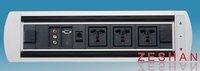 hidden electric desktop socket include photoelectric detector,tel,network,power,photoelectric,operational button,indicator light