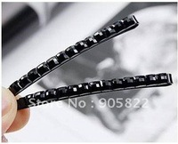 Free shipping+wholesale,black Tone acrylic Hair Clips Snaps for Kids Toddler /hair pin/hair grip(F-54)