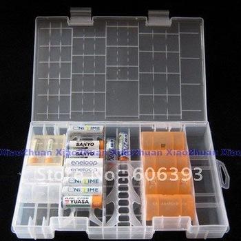 C18 AAA AA C D 9V Battery Storage Holder Case Box Hard Rack