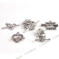 New Fashion Hot Sale Mixed 100pcs Silver Plated Toggle Clasps Fit Jewelry Have In Stock 160336
