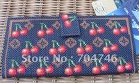 Cross-stitch purse Beautiful handmade purse Fashion wallet Good gift wallet Little cherry