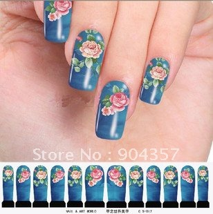 Nail Art Sticker MINX Metal Nail Watermark Stickers Colorful Tip Decal Accessories Tattoo Series one