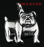 OMH wholesale tibetan silver 90pcs  tibetan silver dog charms pendant 17mm DZ09