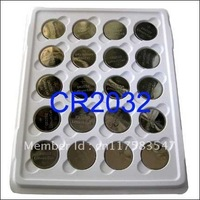 Wholesale free shipping 20 x CR2032 ECR2032 DL2032 DL2032, BR2032 3V Battery Button Coin Battery Button Cell Batteries