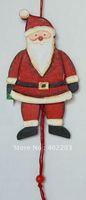 christmas ornament-christmas gifts-christmas santa-santa jumping jacket-wooden-wooden toys-10pcs/lot-free shipment