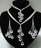 EVYSTZ (13) Free shipping wholesale price fashion silver Mulit pendant jewelry set for women fashion jewelry set high quality