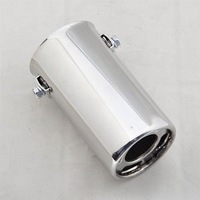 Exhaust Muffler Silencer Tip Tail 30-50mm Inside Dia Brand New [CP577]