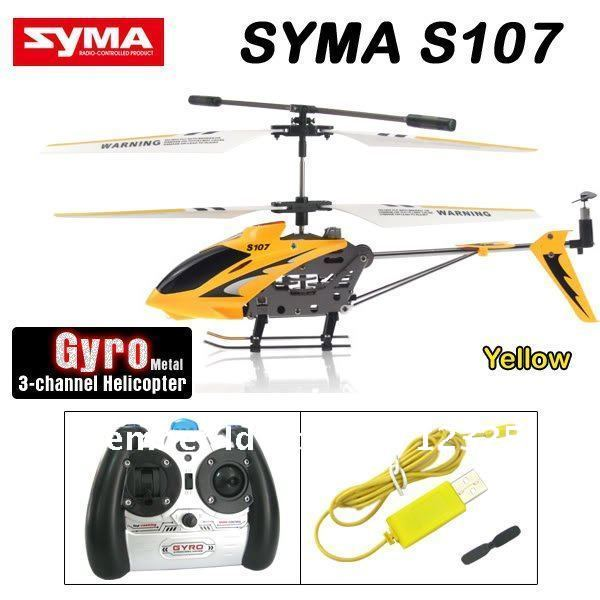 Hot Selling SYMA S107G S107 G RTF 3CH Rc Helicopter RC Toys With GYRO Charger spare parts(China (Mainland))
