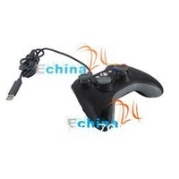 USB Wired Controller For Microsoft Xbox 360 PC Windows Black New Stype Wholesale and Freeshipping 50 pcs