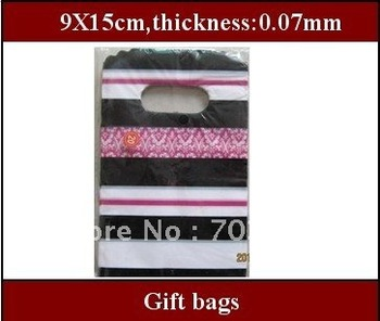 popular gift bags/plastic bags  9X15cm free shipping,wholesale