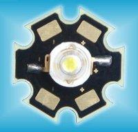 "Promation!!!1W high power led with heatsink,70-80lm,""apt-hk"" led chip"