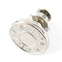 "20pcs 8 Sets No Sew Silver Metal Studs Jean Button~5/8""(17mm)  Free shipping"