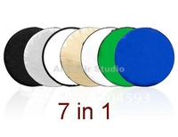 "wholesell 43"" 7-in-1 Light Mulit Collapsible disc Reflector 110cm free shipping and good quanlity"