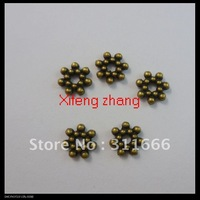 1200 pcs/lot 6.5mm alloy bead caps jewelry findings Free shipping