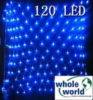 Blue 120 LED NET lights for Party wedding garden,Christmas led light, 30pcs/lot ,free shipping
