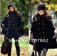 Promotions!!Women's Jacket Poncho / Cape Wool Double-breasted Coat/Lady's fashion coat