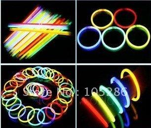 100pcs/lot Wholesale Cheap Light Stick Glow Bracelet Party celebration glow in the dark Stick fluorescence stick Bracelet Toy(China (Mainland))
