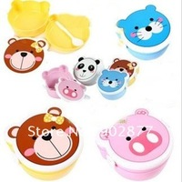 Monchhchi kids Lunch box, school food box, cute animals, Candy box, 4 color, environmental protection, free shipping