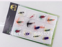 Fine quality! Lot of 600 pcs flies (50 boxes) Fishhook Dry & Wet Fly Fishing Flies / Baits