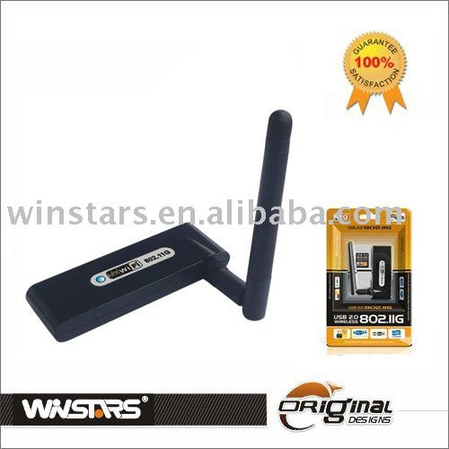 EXW price fast shipment USB Wireless Lan 802.11G (54Mbps) with antenna(China (Mainland))