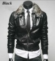 fashion men&#39;s PU leather jacket outerwear men coat winter outdoor padded clothes designer casual garment(China (Mainland))