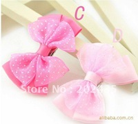 Wholesale 100pcs a lot different color mixed DIY hair bow accessory hair flower accessories without hair clip for DIY DI12