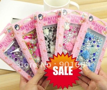 Diamond mobile phone sticker for iphone 4G/ blackberry/ Touch 3G/ Ipod! pattern mix, DHL/EMS Free shipping 100pcs