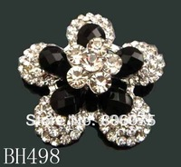 wholesale Hot Sale woman crystal rhinestone alloy flower brooch fashion jewelry Free shipping 12pcs/lot pictures colors  BH498
