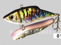 100pcs/lot best selling fishing tackle 80mm 11g hard plastic fishing lure free shipping(5 colors)