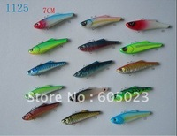 100pcs new arrival high quality fiashing lures ,7cm hard lures mix 5 colors by plastic,wholesales freeshipping