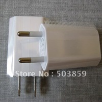 Free shipping 100pcs/lot USA EU Plug Wall Charger Travel USB Charger Adapter for iPhone 3G 3GS 4G iPod