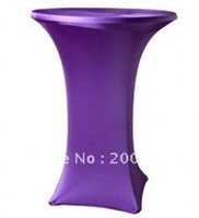 purple cocktail table cover  /lycra chair cover/spandex chair cover