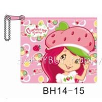 200pcs Cartoon Strawberry Princess Coin Purse Coin Bag Charge Bag Wholesale Free Shipping