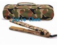 Free shipping 50pcs camouflage Professional Salon Camo Pink/Blue/Green Ceramic Flat Iron 1 inch Hair Straightener hair irons