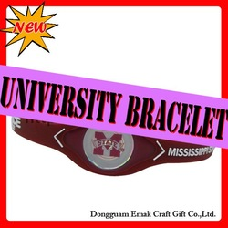 2011 hot sell american university college bracelet,MISSISSIPPI-STATE BULLDOGS.freeshipping(China (Mainland))