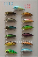 100pcs new arrival high quality fiashing lures ,4.5cm/5.5cm hard lures mix 5 colors by plastic,wholesales freeshipping