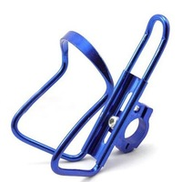 Cycling Bicycle Cage Bike Stainless Steel Water Bottle Holder with Handlebar Mount blue