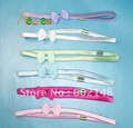12 Pcs/Lot Wholesale Free Shipping Hot Sale Promotional Gift Fashion Headband Elastic Hair Band With Bowknot Mix Colour