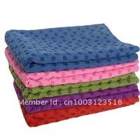 Free shipping anti-skid mircrofiber yoga towel 183x65cm Eco-friendly yoga mat 5 colour 1 piece/lot